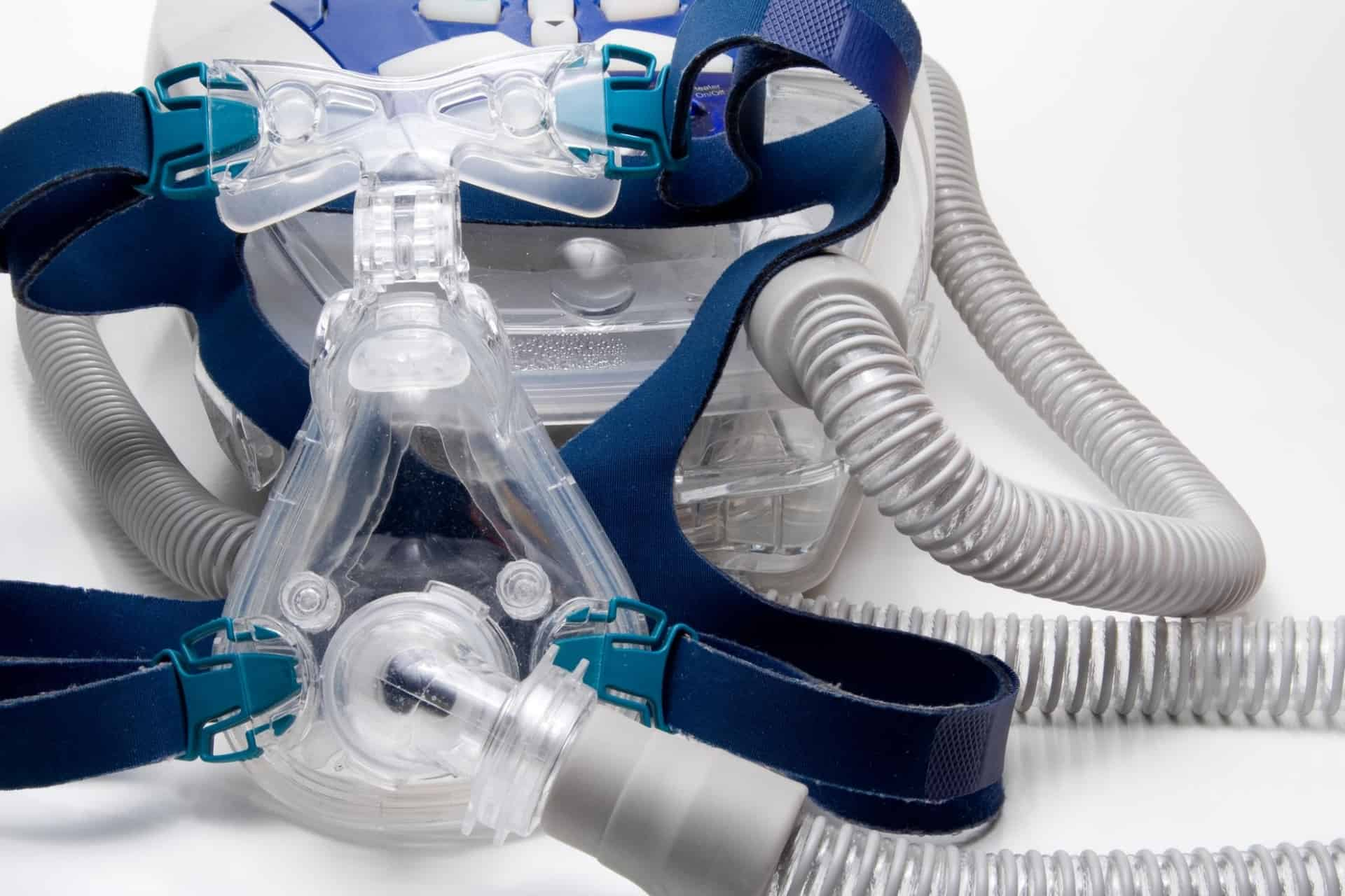 CPAP mask and headgear and hose