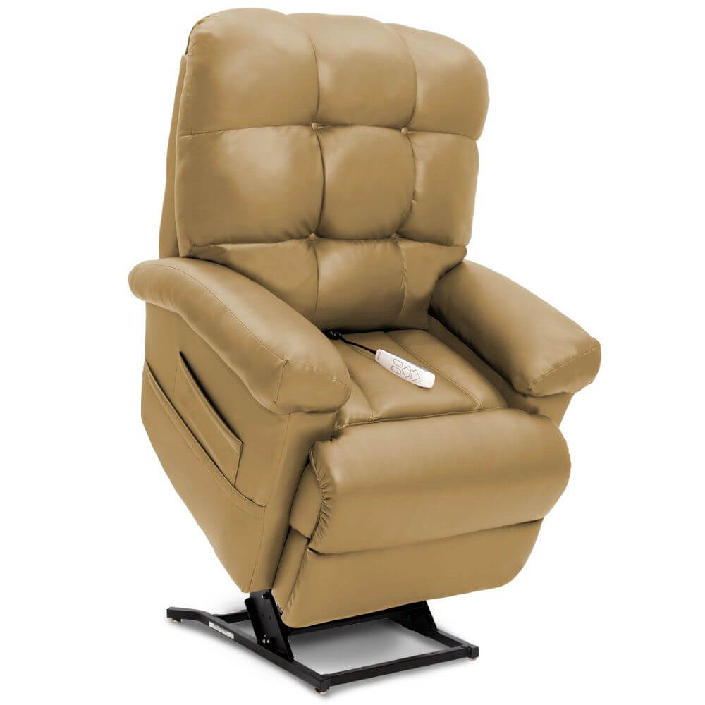 Tan leather Pride Infinity Lift Chair Recliner