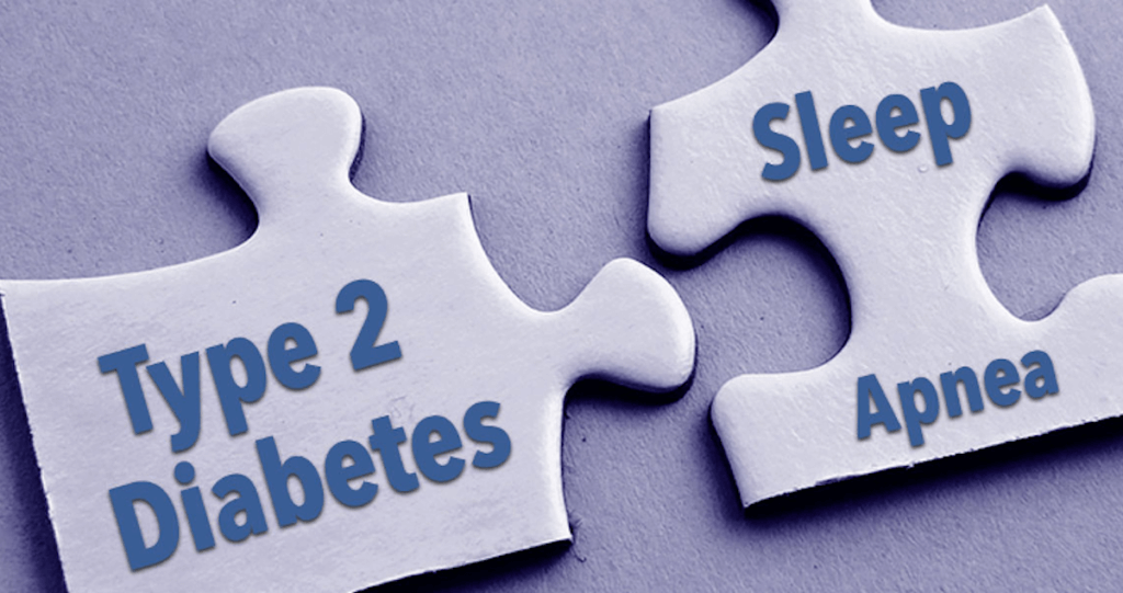 sleep apnea puzzle piece linking to type 2 diabetes puzzle piece